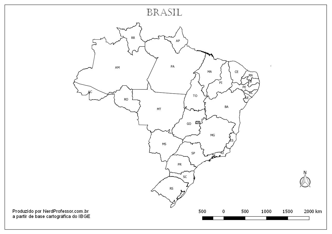 mapa estados e capitais do brasil colorir nerd professor
