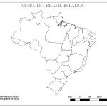 Mapas do Brasil Regiões para Colorir