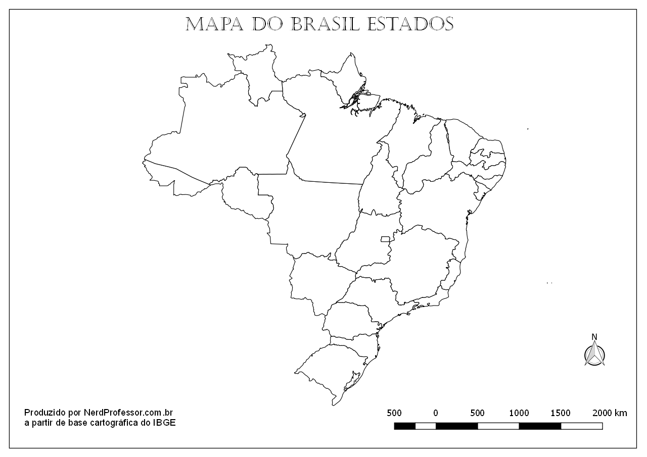 Suficiente Mapa Estados e Capitais do Brasil Colorir – Nerd Professor BZ22