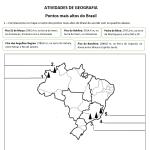 Atividade Geografia Pontos Mais Altos do Brasil